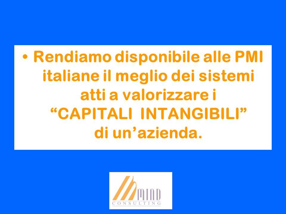 Rendiamo disponibile alle PMI italiane il meglio dei sistemi atti a valorizzare i CAPITALI INTANGIBILI di un'azienda.