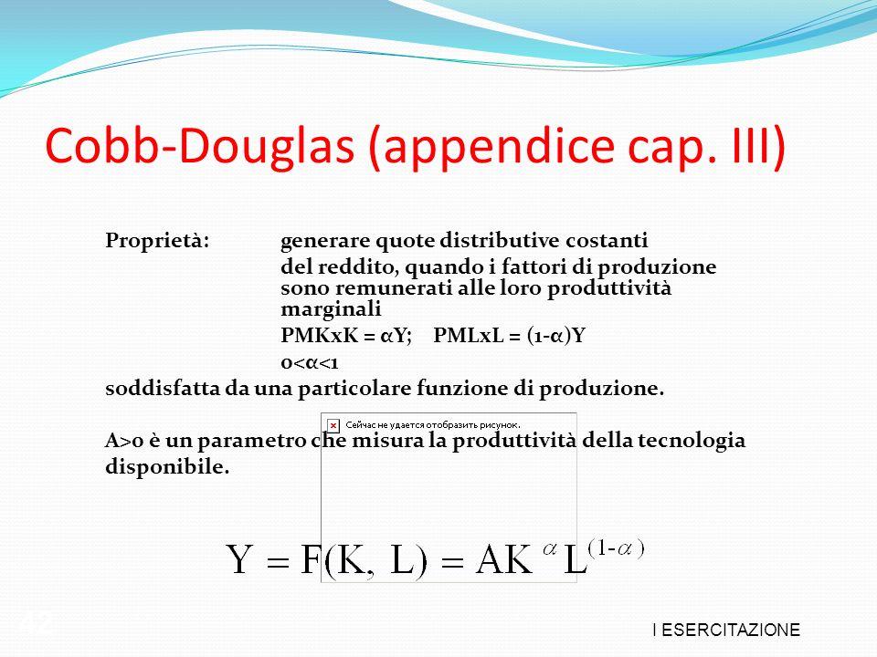 Cobb-Douglas (appendice cap. III)