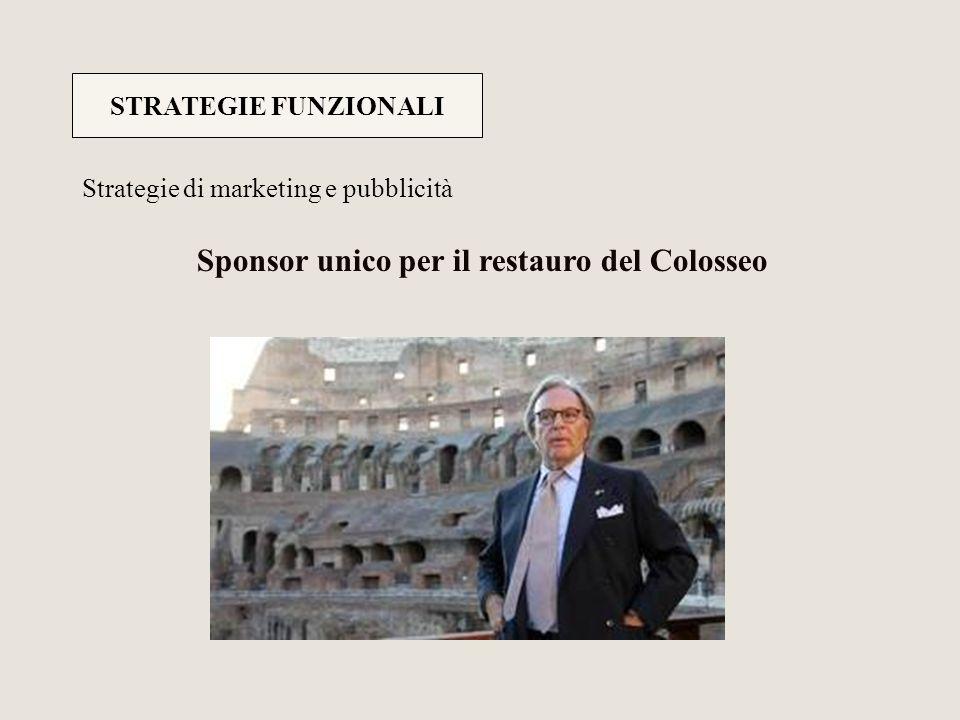 Sponsor unico per il restauro del Colosseo