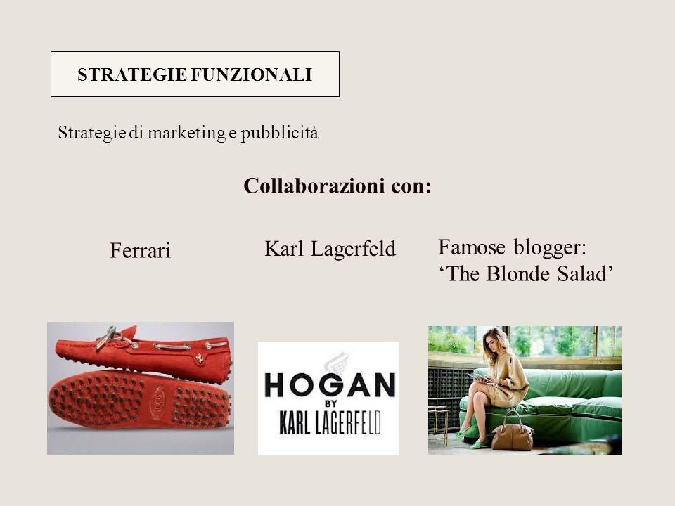Collaborazioni con: Ferrari Karl Lagerfeld Famose blogger: