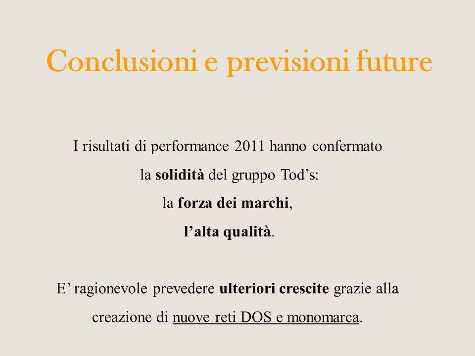 Conclusioni e previsioni future