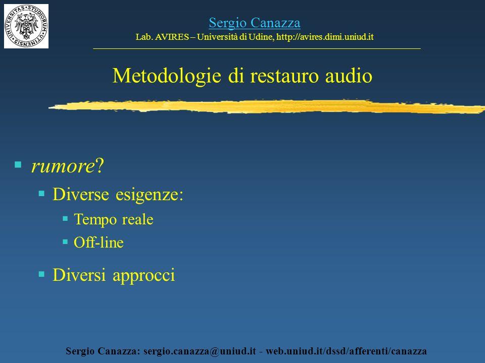 Metodologie di restauro audio