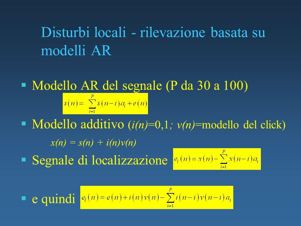 Disturbi locali - rilevazione basata su modelli AR