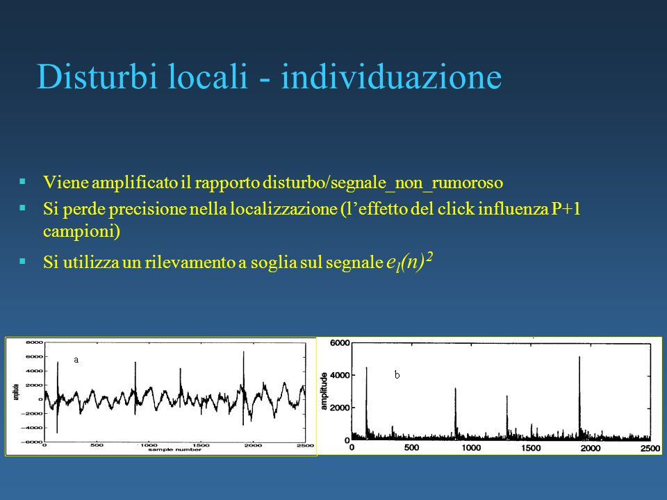 Disturbi locali - individuazione