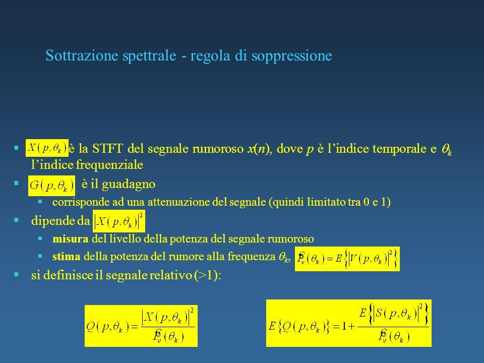 Sottrazione spettrale - regola di soppressione