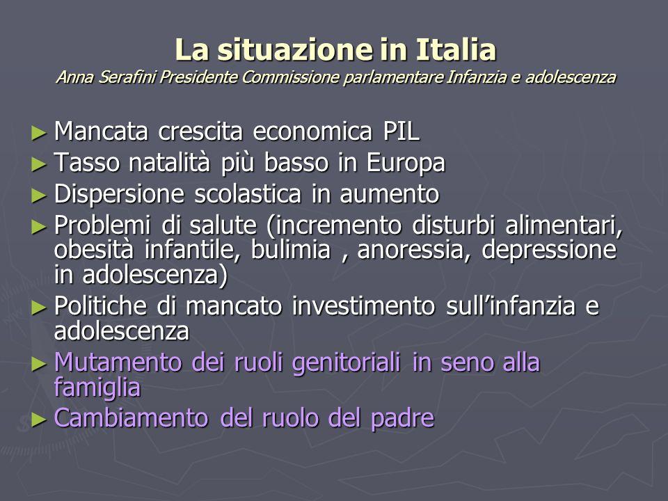 La situazione in Italia Anna Serafini Presidente Commissione parlamentare Infanzia e adolescenza