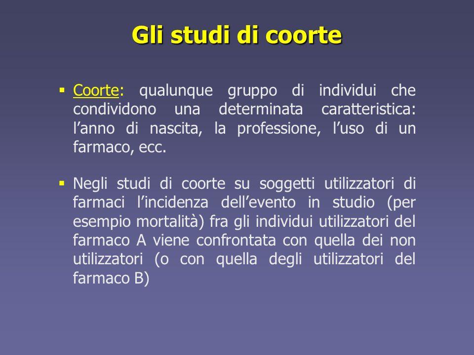 Gli studi di coorte