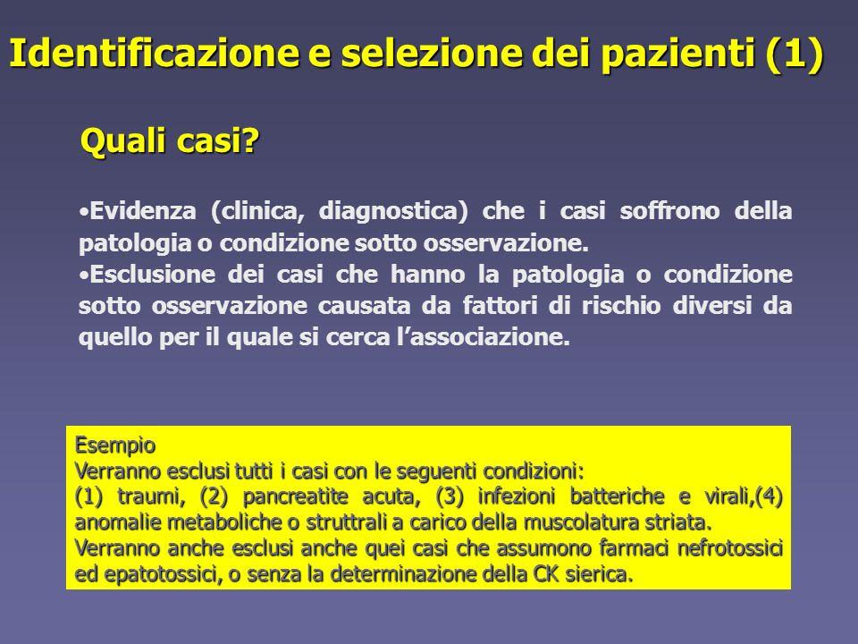 Identificazione e selezione dei pazienti (1)