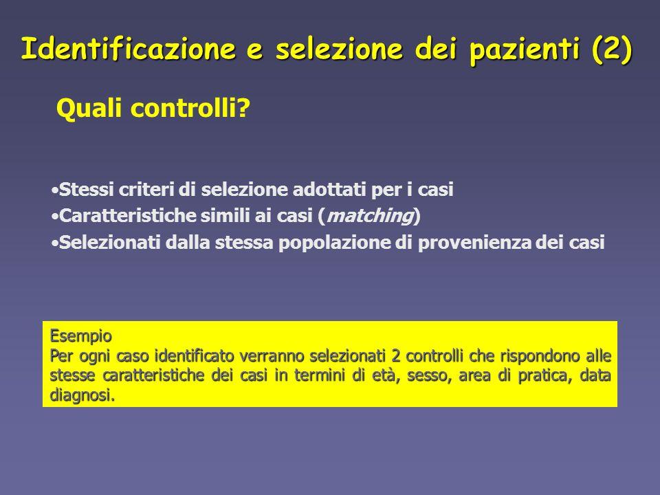 Identificazione e selezione dei pazienti (2)