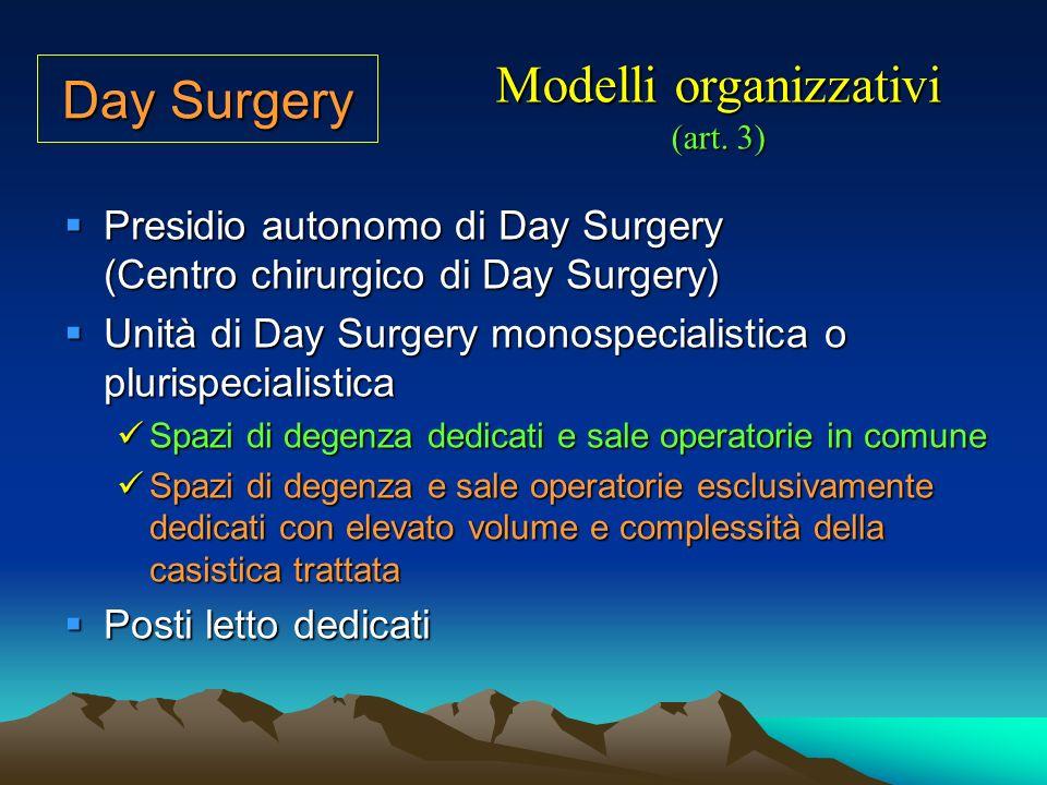 Modelli organizzativi (art. 3)