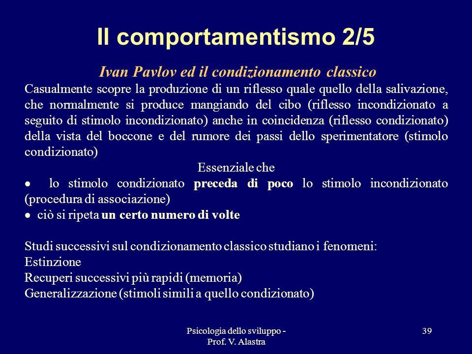 Il comportamentismo 2/5 Ivan Pavlov ed il condizionamento classico