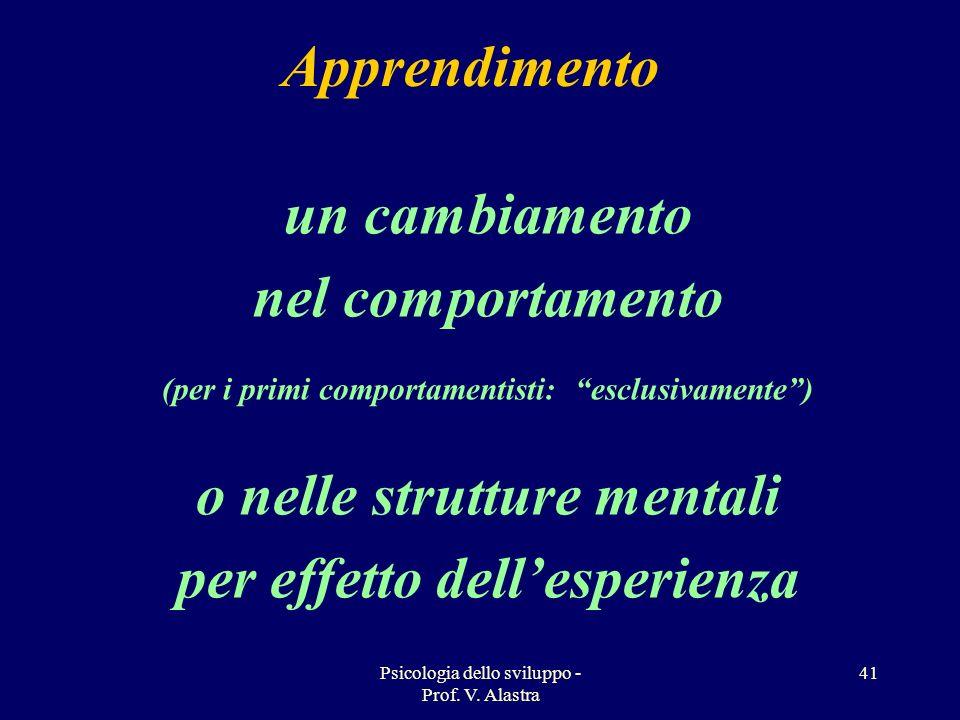 o nelle strutture mentali per effetto dell'esperienza