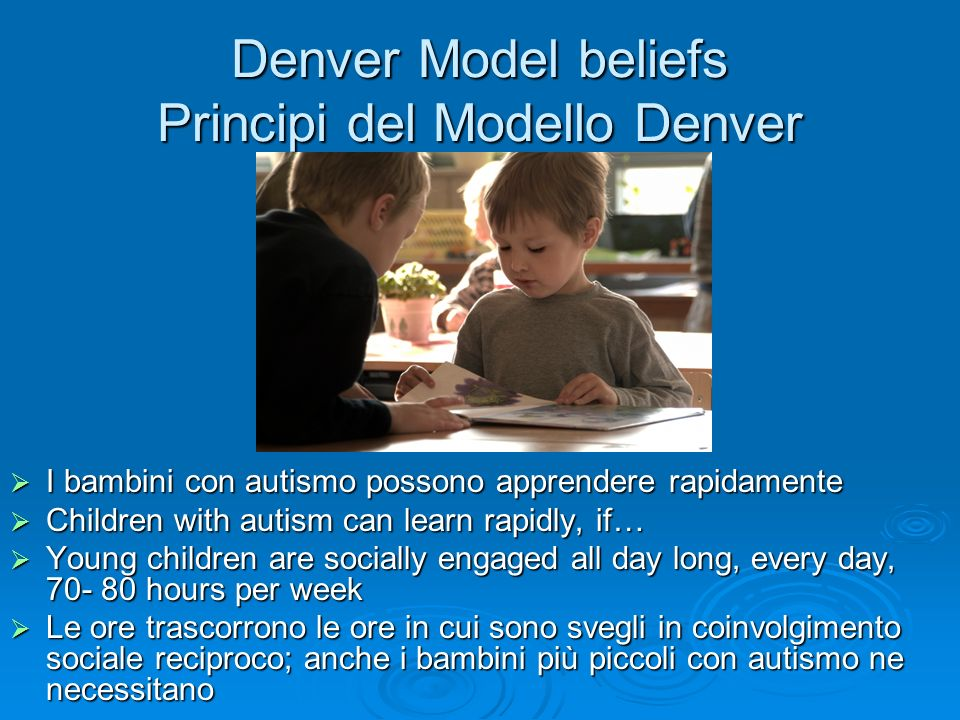 Denver Model beliefs Principi del Modello Denver