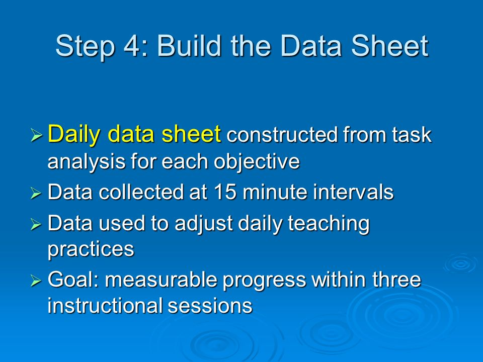 Step 4: Build the Data Sheet