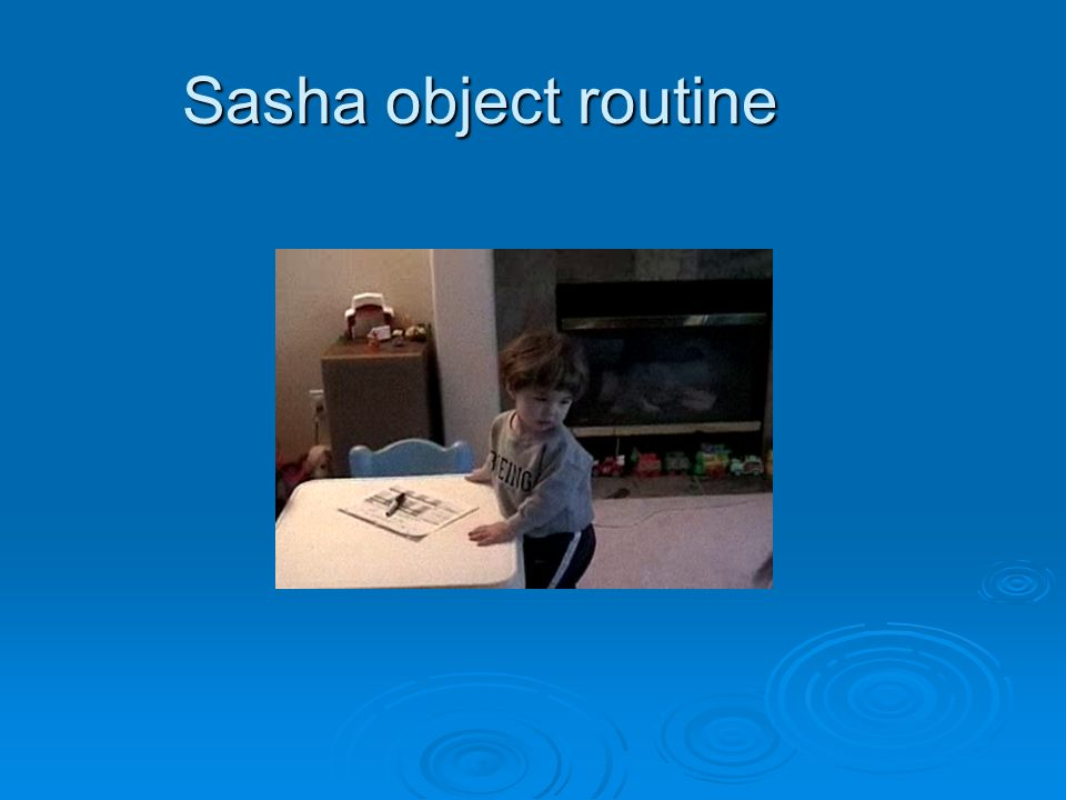 Sasha object routine