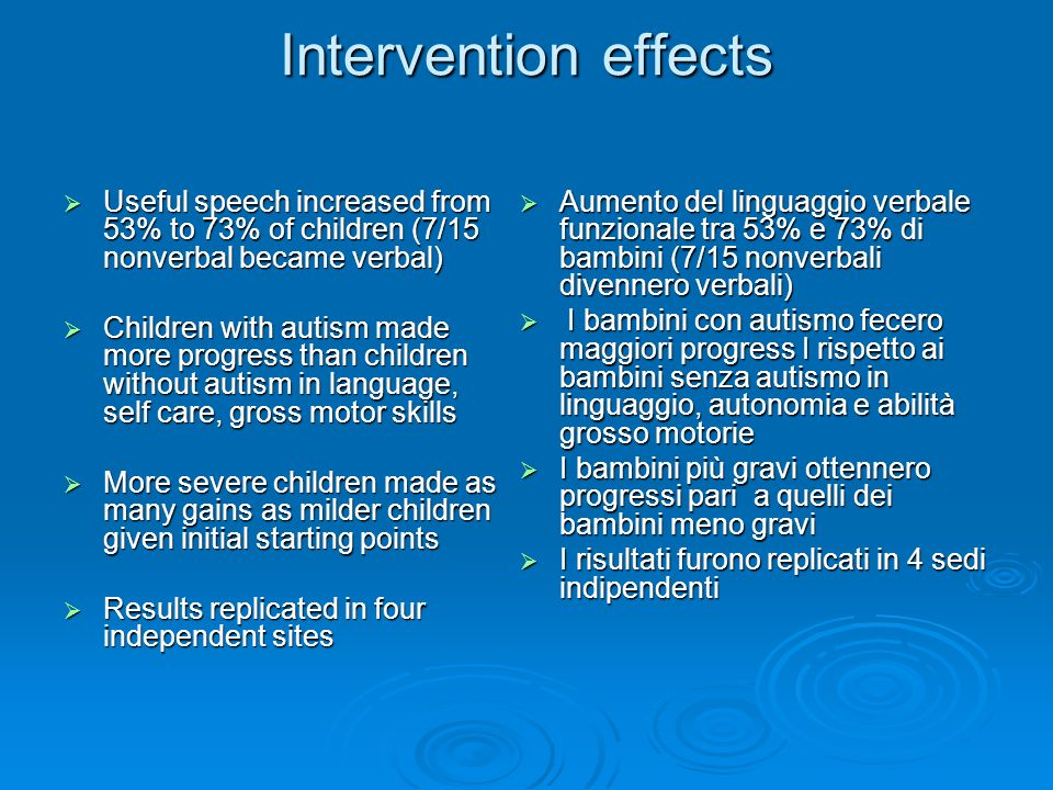 Early START Project: Intensive, Comprehensive Intervention for Toddlers with Autism