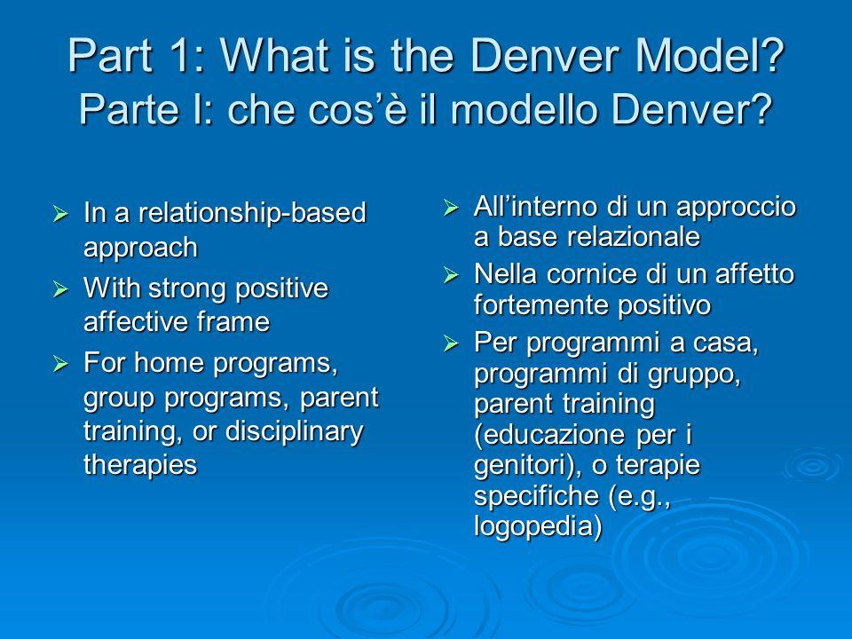 Part 1: What is the Denver Model Parte I: che cos'è il modello Denver