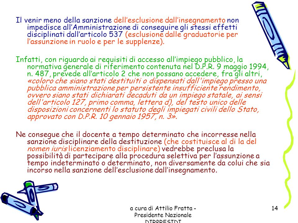 a cura di Attilio Fratta - Presidente Nazionale DIRPRESIDI