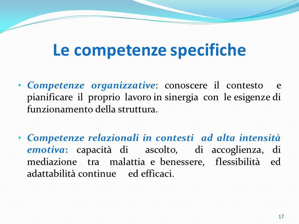 Le competenze specifiche