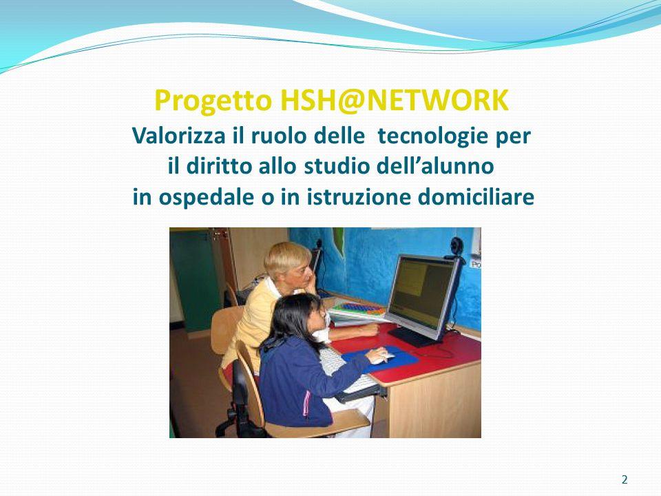 Progetto HSH@NETWORK Valorizza il ruolo delle tecnologie per il diritto allo studio dell'alunno in ospedale o in istruzione domiciliare