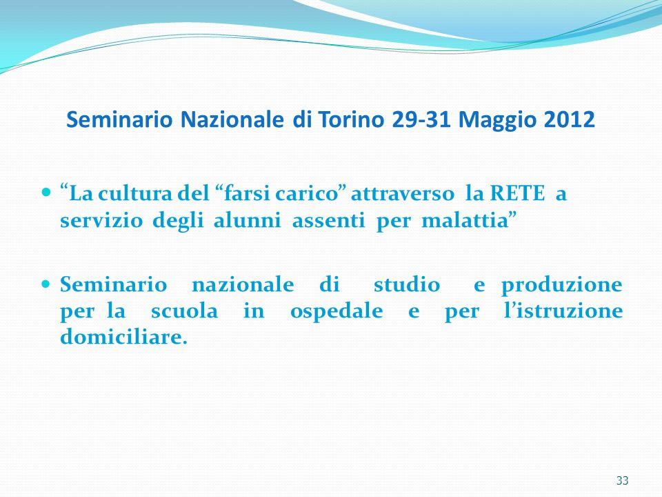 Seminario Nazionale di Torino 29-31 Maggio 2012