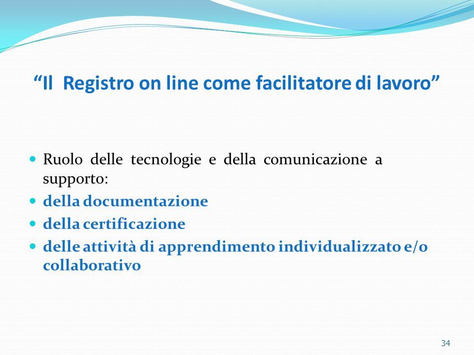 Il Registro on line come facilitatore di lavoro