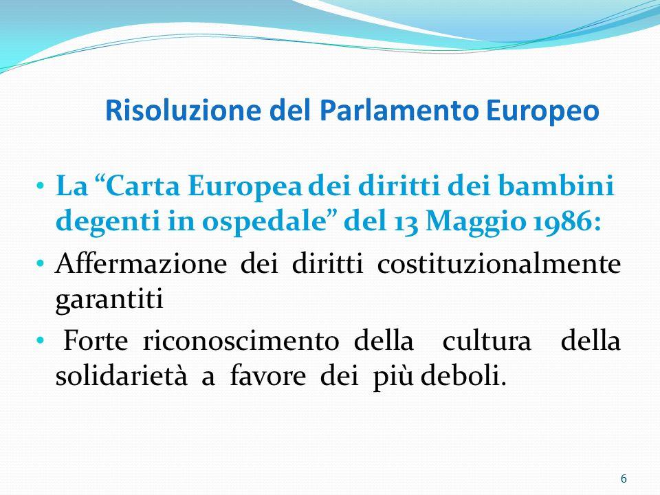 Risoluzione del Parlamento Europeo