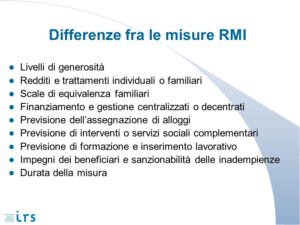 Differenze fra le misure RMI