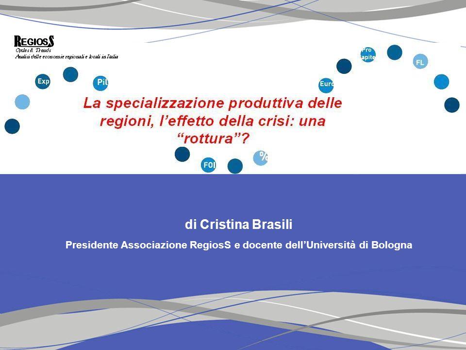 Presidente Associazione RegiosS e docente dell'Università di Bologna