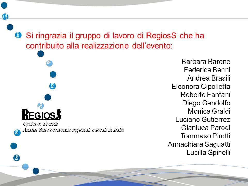 Si ringrazia il gruppo di lavoro di RegiosS che ha