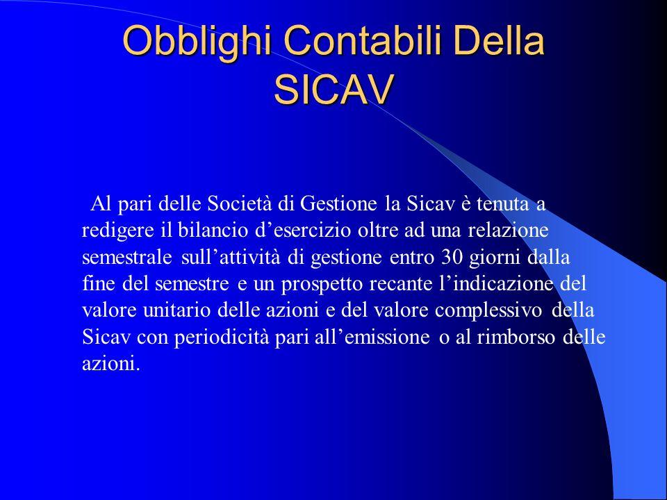 Obblighi Contabili Della SICAV
