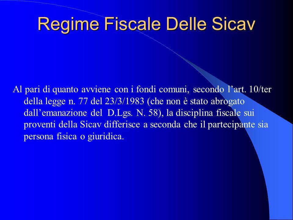 Regime Fiscale Delle Sicav