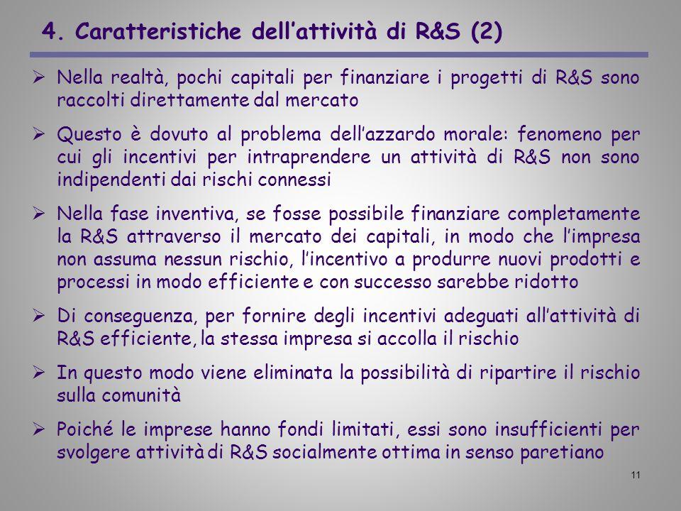4. Caratteristiche dell'attività di R&S (2)