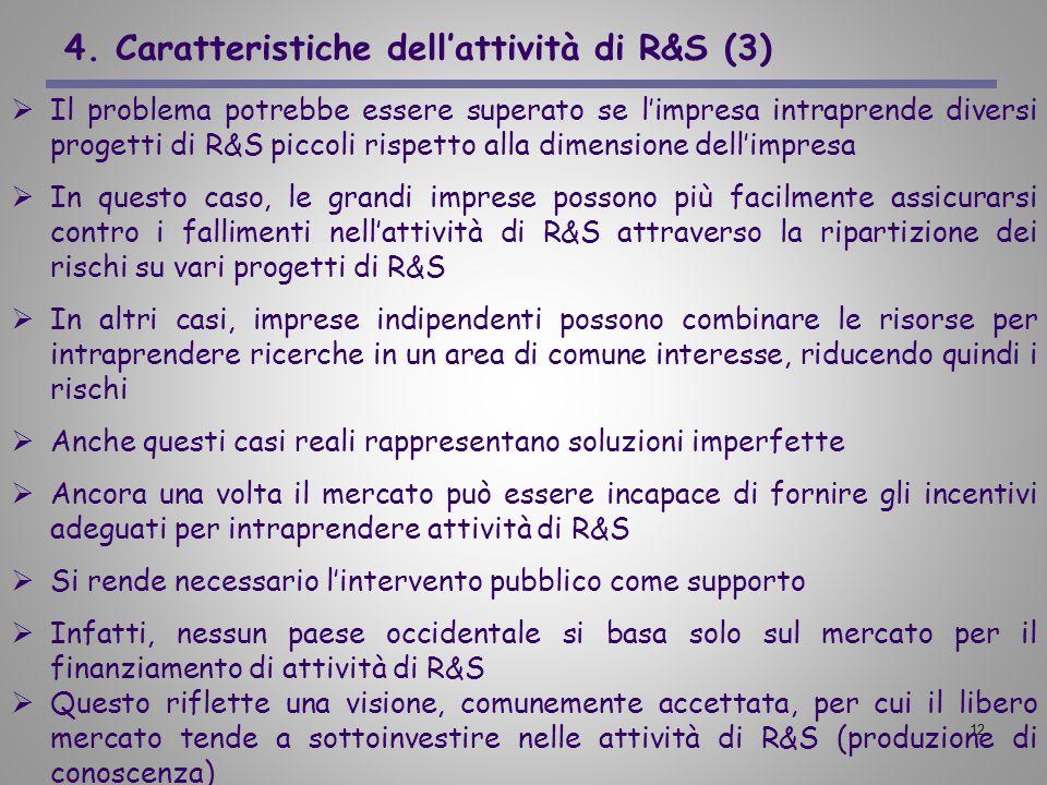4. Caratteristiche dell'attività di R&S (3)