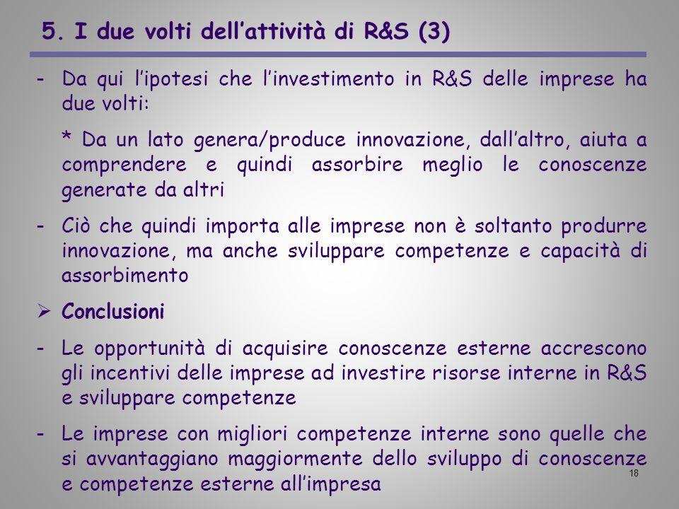 5. I due volti dell'attività di R&S (3)
