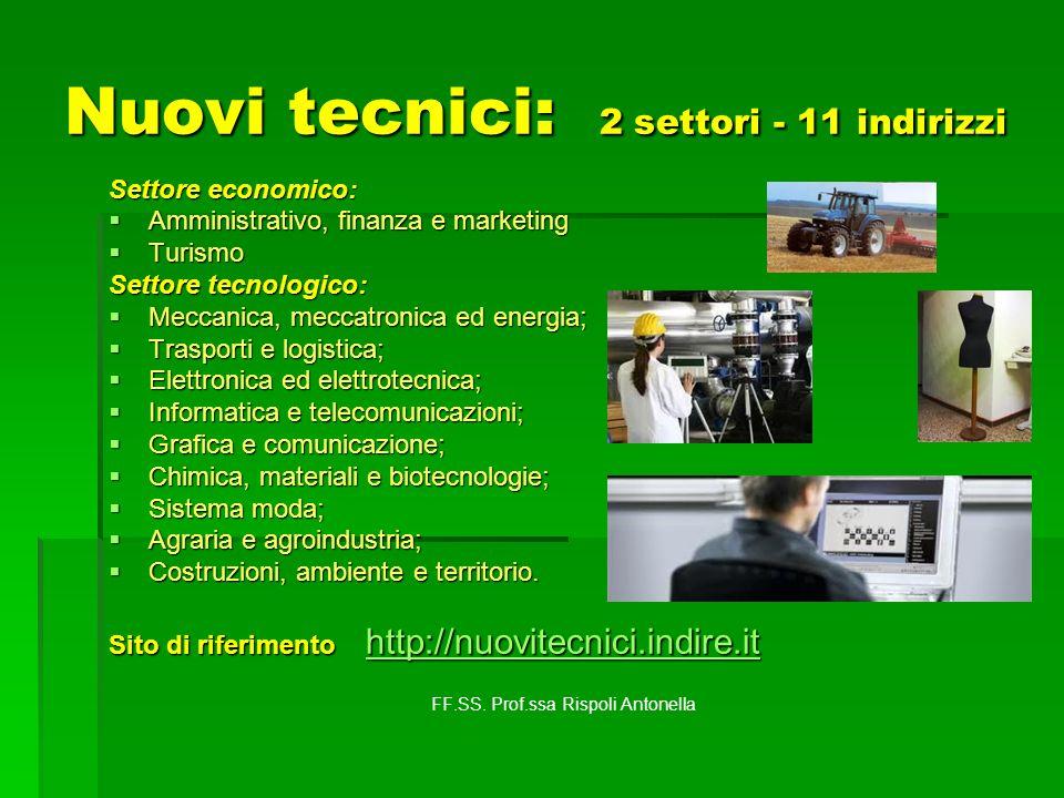 Nuovi tecnici: 2 settori - 11 indirizzi