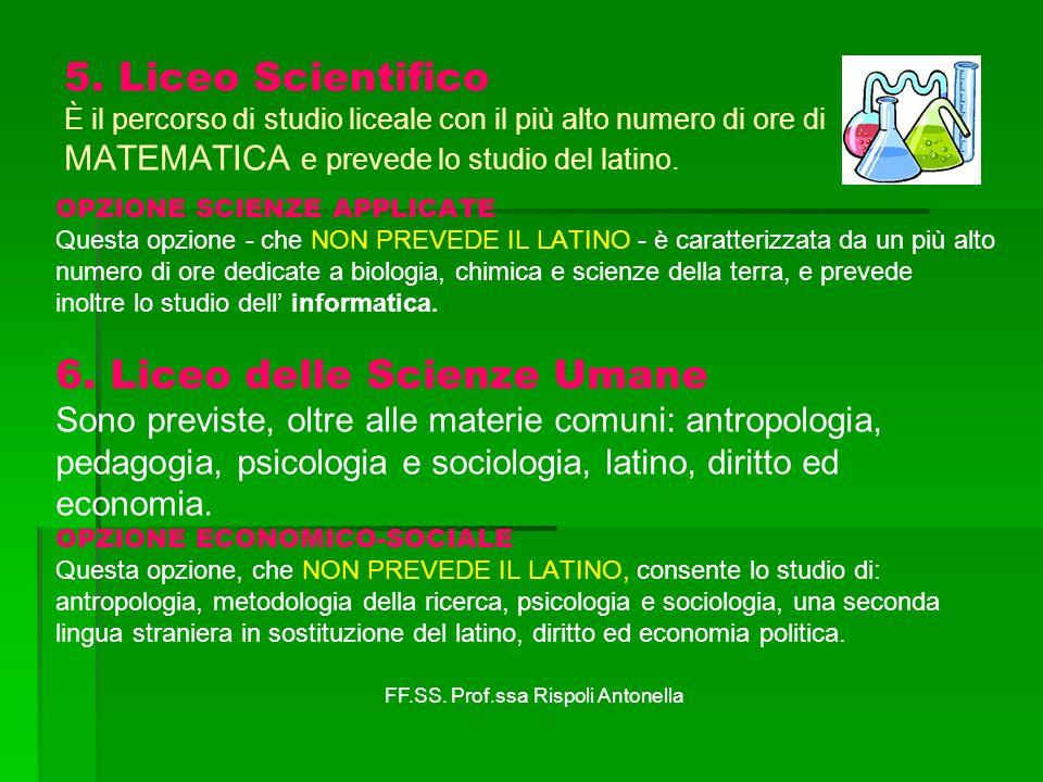 6. Liceo delle Scienze Umane