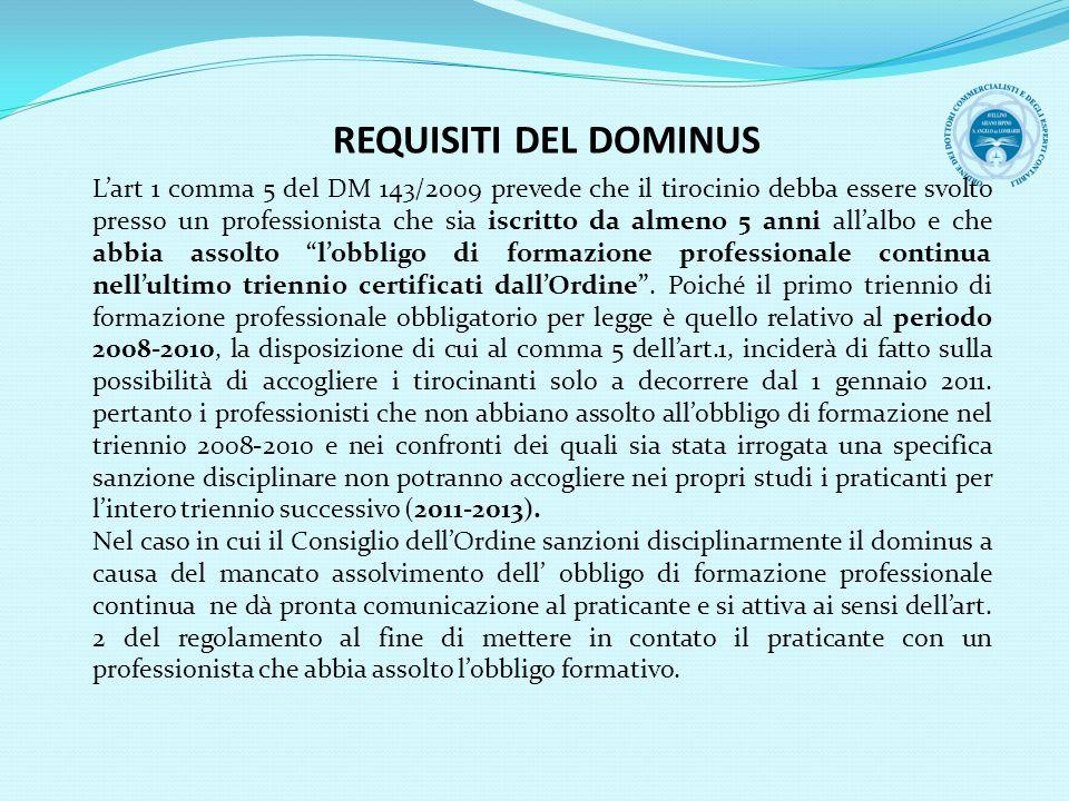 REQUISITI DEL DOMINUS