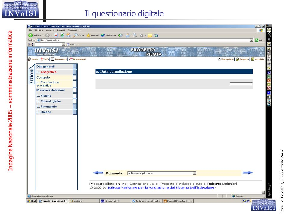 Il questionario digitale