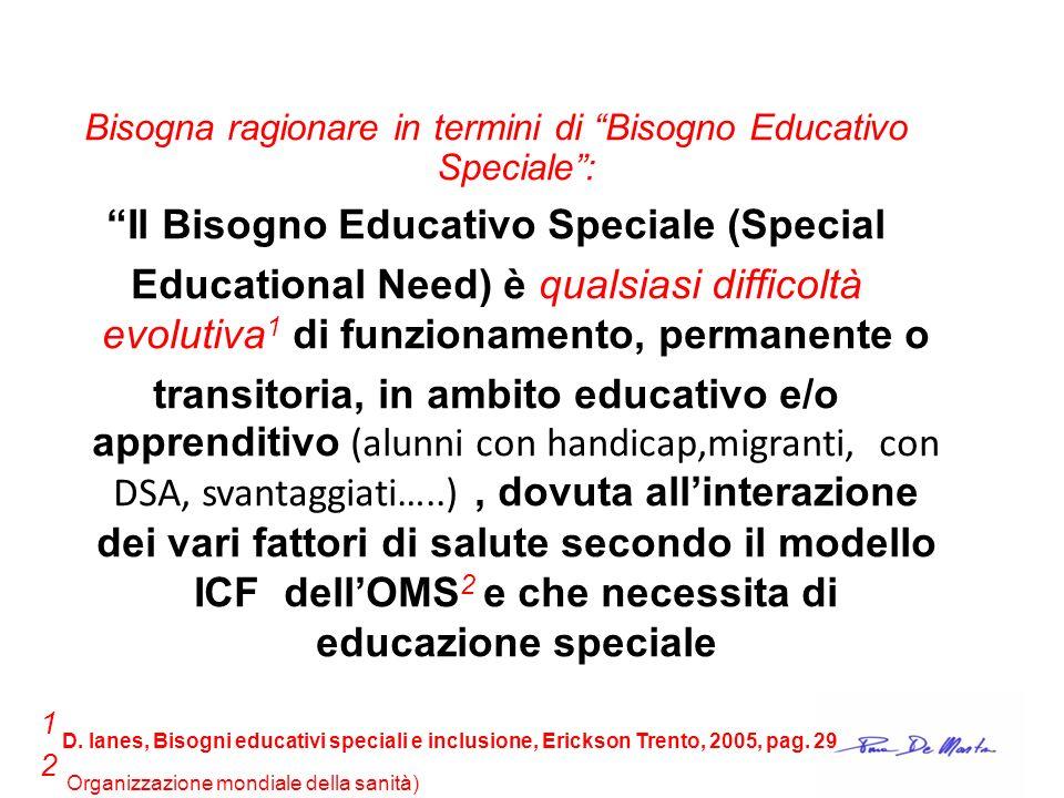 Il Bisogno Educativo Speciale (Special