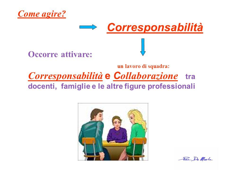 Corresponsabilità Come agire Occorre attivare: