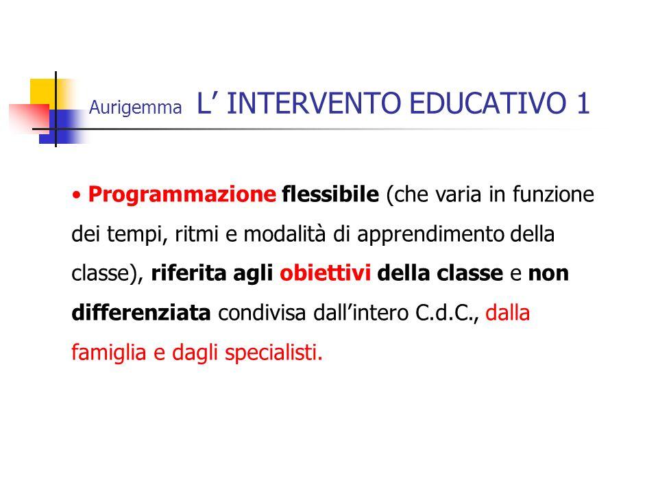 Aurigemma L' INTERVENTO EDUCATIVO 1