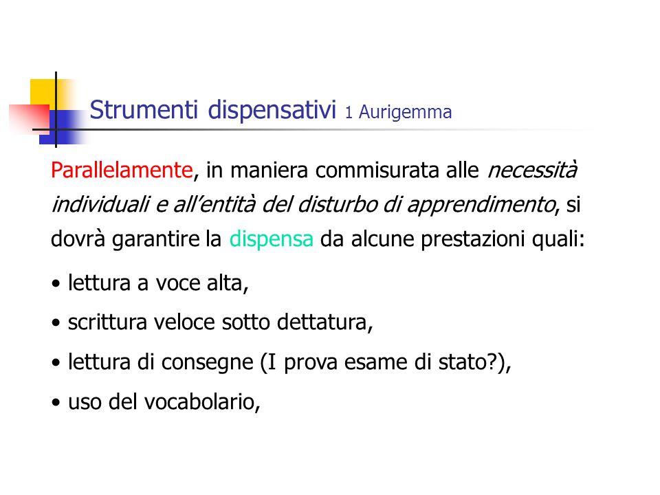 Strumenti dispensativi 1 Aurigemma