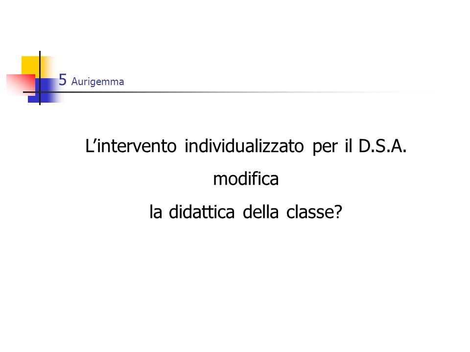 L'intervento individualizzato per il D.S.A. modifica
