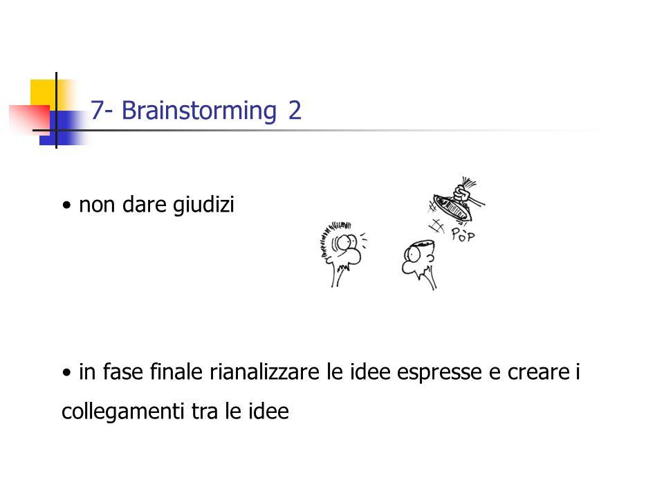 7- Brainstorming 2 non dare giudizi