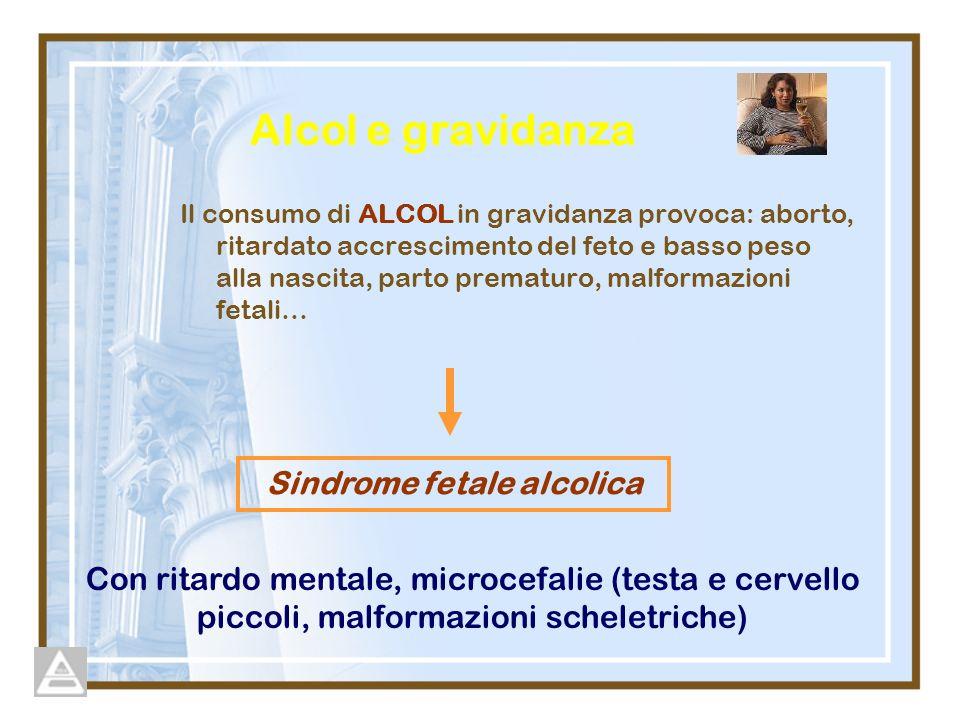 Alcol e gravidanza Sindrome fetale alcolica