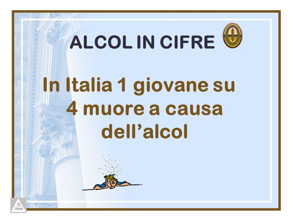 In Italia 1 giovane su 4 muore a causa dell'alcol