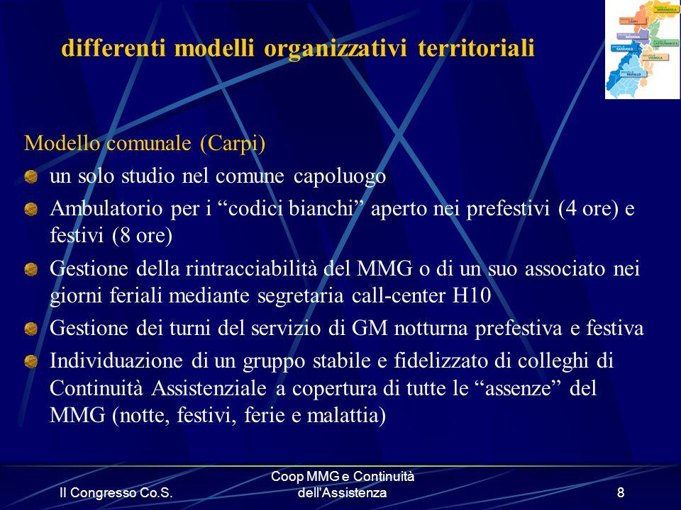 differenti modelli organizzativi territoriali