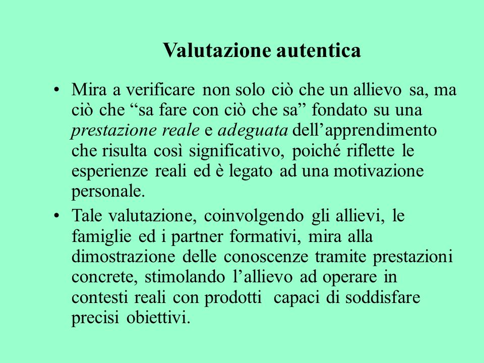 Valutazione autentica
