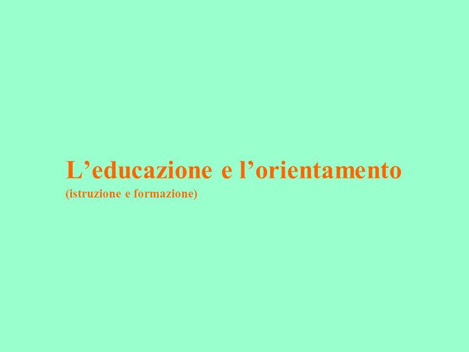L'educazione e l'orientamento